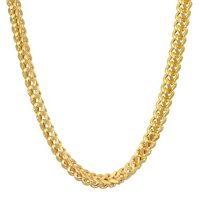 """14K Yellow Gold Hollow Franco Chain, 22"""""""