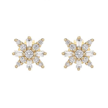 0.25 CT. T.W. Diamond Earrings in 14K Yellow Gold