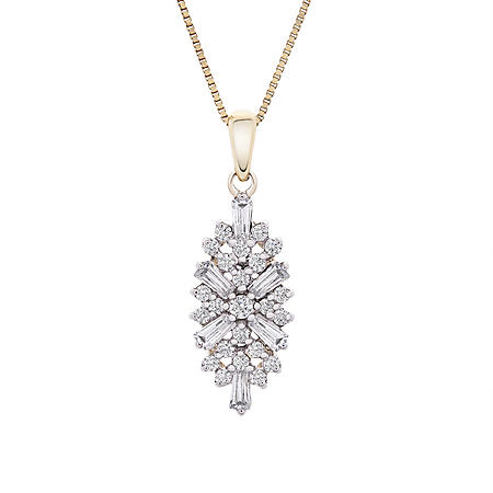 0.33 CT. T.W. Diamond Cluster Pendant in 14K Yellow Gold