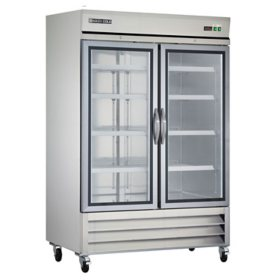 Maxx Cold X-Series Double Glass Door Commercial Refrigerator, Stainless Steel (49 cu. ft.)