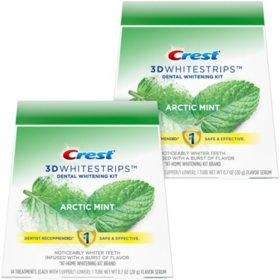 Crest 3D Whitestrips Arctic Mint, Dental Whitening Kit + 2 Tubes of Flavor Serum (56 ct.)