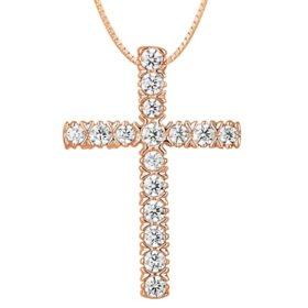 0.23 CT. T.W. Diamond Cross Pendant in 14K Gold