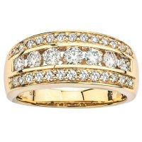 0.96 CT. T.W. Diamond Wedding Band in 14K Yellow Gold