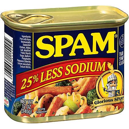SPAM with 25% Less Salt (12 oz., 12 pk.)