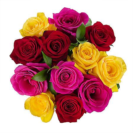 Premium Rainbow Rose Bouquet