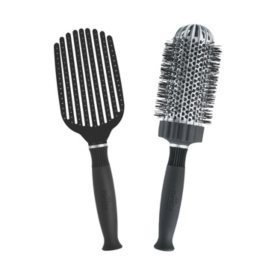 KareCo Tangle Buster® Detangler & Large Round Ceramic Thermal Hair Brush Set