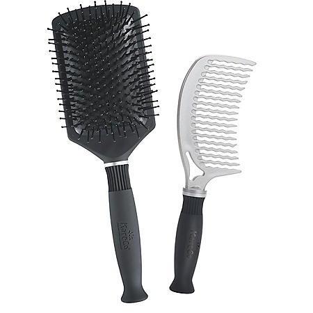 KareCo Professional Comb & Paddle Brush Hair Brush Set