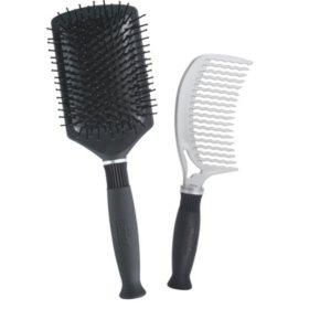 KareCo Professional Comb & Paddle Brush Hair Brush Set
