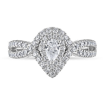 0.69 CT. T.W. Engagement Ring in 14K Gold