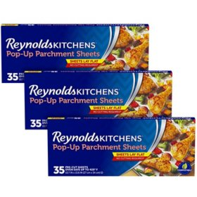Reynolds Kitchens Pop-Up Parchment Paper Sheets (35 sheets/pk., 3 pk.)