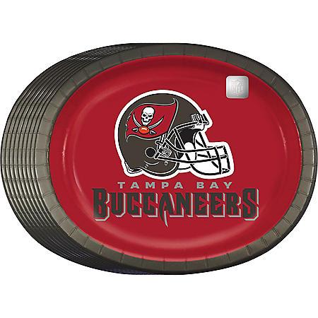 "NFL Paper Platter Plates, 10'' x 12"" (55 ct.) (Choose Your Team)"