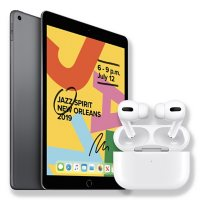 """Apple iPad 10.2"""" 7th Generation 128GB with Wi-Fi and Apple AirPods Pro with Wireless Charging Case"""