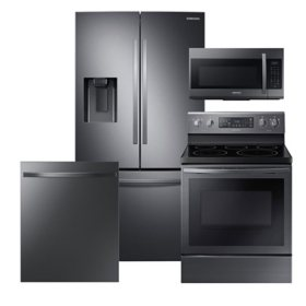 Samsung 4 pc. Electric Kitchen Suite with 3-Door French Door Refrigerator