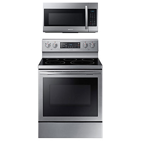 Samsung Cooking Bundle with 5.9 cu. ft. Freestanding Electric Range with Air Fry & Convection - Stainless Steel