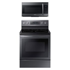 Samsung Cooking Bundle with 5.9 cu. ft. Freestanding Electric Range with Air Fry & Convection