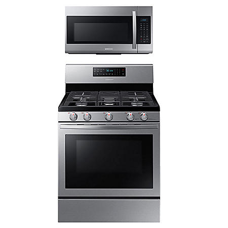 Samsung Cooking Bundle with 5.8 cu. ft. Freestanding Gas Range with Air Fry & Convection - Stainless Steel