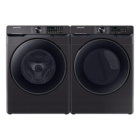 Samsung 5.0 cu. ft. Smart Front Load Washer with Super Speed & 7.5 cu. ft. Smart Electric Dryer with Steam Sanitize+
