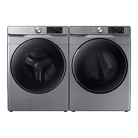Samsung 4.5 cu. ft.  Front Load Washer with Steam & 7.5 cu. ft. Electric Dryer with Steam Sanitize+