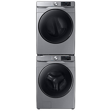 Samsung Stackable 4.5 cu. ft.  Front Load Washer with Steam & 7.5 cu. ft. Electric Dryer with Steam Sanitize+