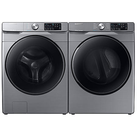 Samsung 4.5 cu. ft.  Front Load Washer with Steam & 7.5 cu. ft. Gas Dryer with Steam Sanitize+