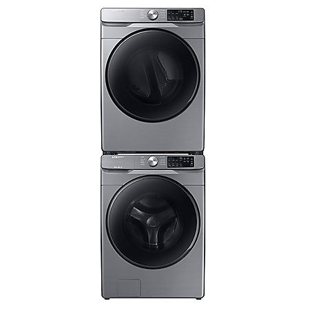 Samsung Stackable 4.5 cu. ft.  Front Load Washer with Steam & 7.5 cu. ft . Gas Dryer with Steam Sanitize+
