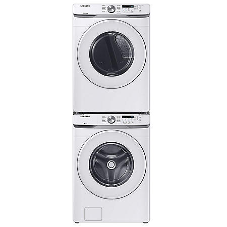 Samsung Stackable 4.5 cu. ft. Front Load Washer with Vibration Reduction Technology+ & 7.5 cu. ft. Electric Dryer with Sensor Dry