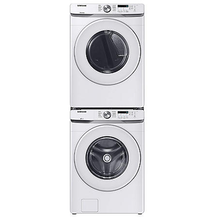 Samsung Stackable 4.5 cu. ft. Front Load Washer with Vibration Reduction Technology+ & 7.5 cu. ft. Gas Dryer with Sensor Dry