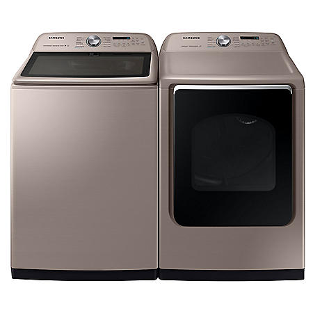 Samsung 5.4 cu. ft.  Top Load Washer with Super Speed & 7.4 cu. ft. Electric Dryer with Steam Sanitize+