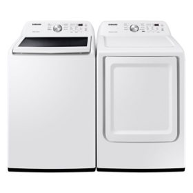 Samsung 4.5 cu. ft. Capacity Top Load Washer with Vibration Reduction Technology+ & 7.2 cu. ft. Electric Dryer