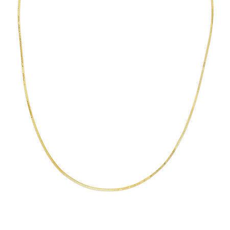 14K Gold Adjustable Milano Chain