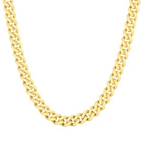 14K Yellow Gold 6.5mm Miami Cuban Necklace