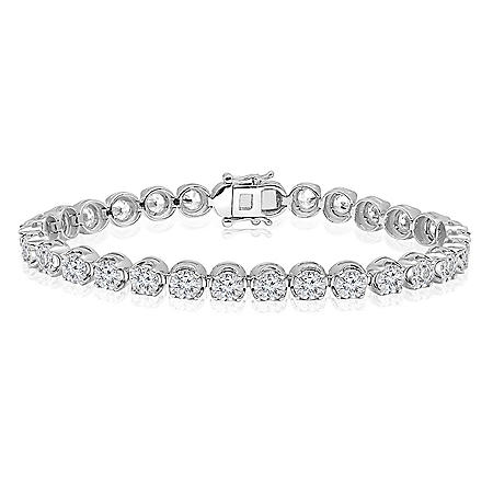 5.95 CT. T.W. Diamond Bracelet in 14K White Gold