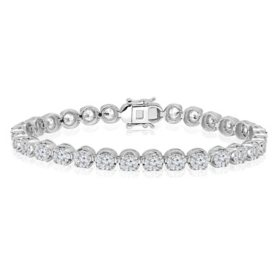 5.95 CT. T.W. Diamond Bracelet in 14K White Gold