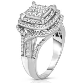 0.95 CT. T.W. Diamond Ring in 14K White Gold