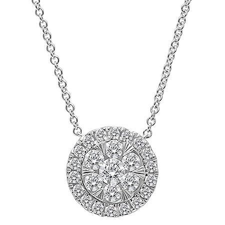 0.45 CT. T.W. Diamond Pendant in 14K Gold