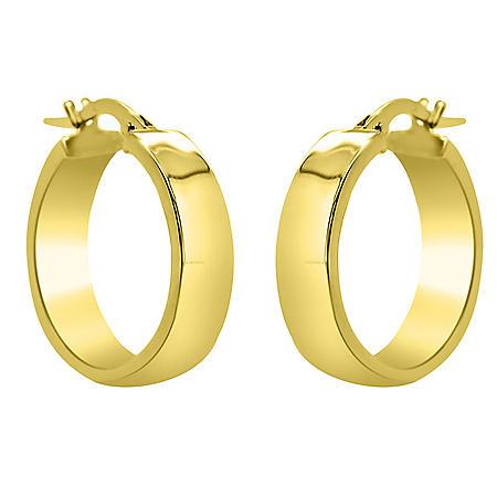 14K Italian Gold 20mm Hoop Earrings