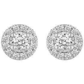 1.00 CT. T.W. Grand Round Shape Diamond Earrings Set in 14K Gold