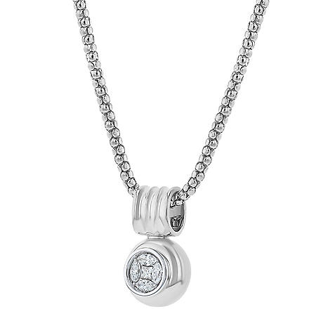S Collection 1/2 CT. T.W. Vintage-Inspired Diamond Pendant in 14K White Gold