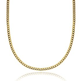 3.15MM Solid Curb Chain in 14K Yellow Gold