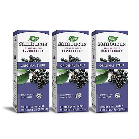 Sambucus Standardized Elderberry Original Syrup, Immune Support (4 fl. oz., 3 pk.)