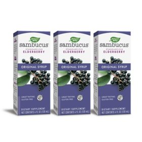 Sambucus Standardized Elderberry Original Syrup, Immune Support (4 fl. oz., 3 pk.)