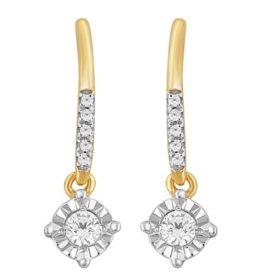 0.20 CT. T.W. Diamond Dangle Earrings in 14K Yellow Gold