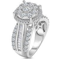 1.95 CT. T.W. Diamond Ring in 14K White Gold