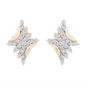 0.50 CT. T.W. Diamond Scattered Rhombus Stud Earrings in 14K Yellow Gold
