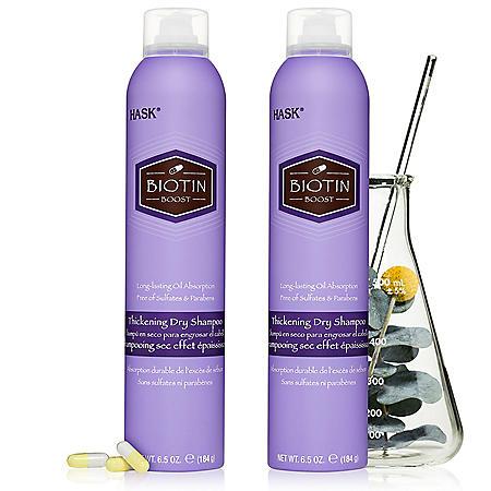HASK Biotin Boost Thickening Dry Shampoo (6.5 oz., 2 pk.)