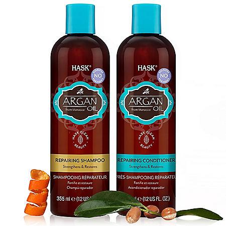 HASK Argan Oil Repairing Shampoo & Conditioner (12 oz., 2 pk.)