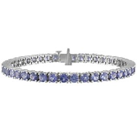 Tanzanite Bracelet in Sterling Silver