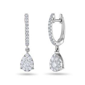 0.45 CT. T.W. Diamond Earrings in 14K Gold