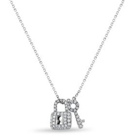0.18 CT. T.W. Diamond Pendant in 14K Gold