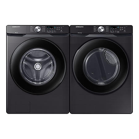 Samsung 4.5 cu. ft. Front-Load Washer & 7.5 cu. ft. Electric Dryer - Black Stainless Steel